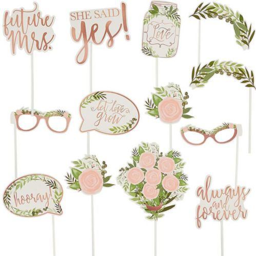 Floral Greenery Photo Booth Props, 13-pk Product image