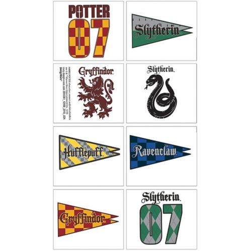 Harry Potter House Tattoos, 1 Sheet Product image