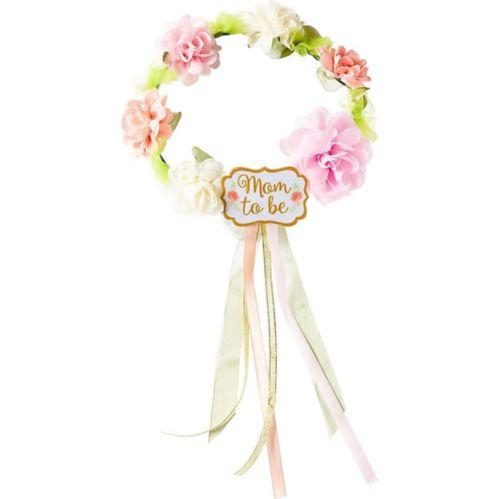 Couronne de fleurs Future maman fête prénatale florale