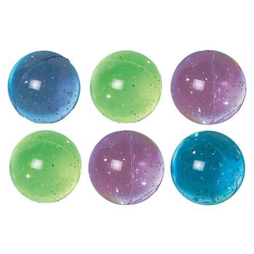 Glitter Bounce Balls, 6-pk