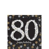 Sparkling Celebration 80th Birthday Beverage Napkins, 16-pk | Amscannull