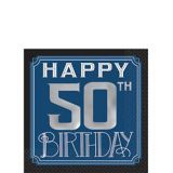 Vintage Happy Birthday 50th Birthday Beverage Napkins, 16-pk | Amscannull