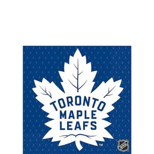 Serviettes à boisson Maple Leafs de Toronto, paq. 16