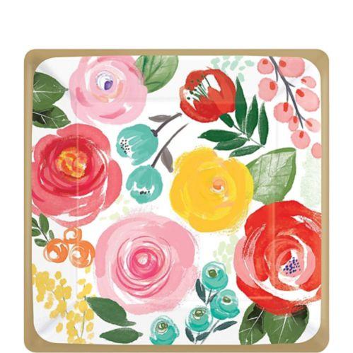 Bright Floral Dessert Plates, 8-pk Product image
