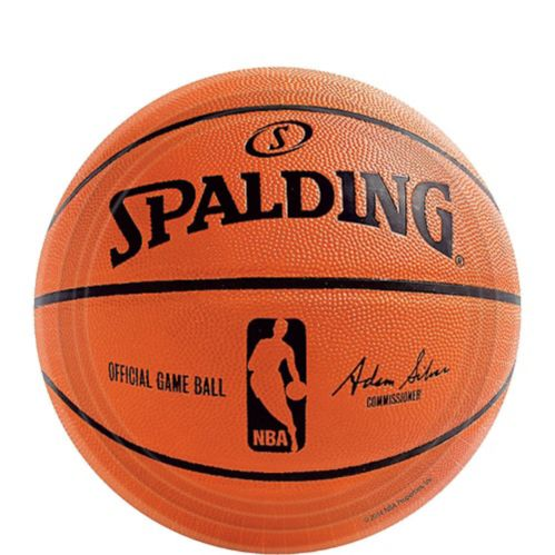 Spalding Basketball Dessert Plates, 18-ct