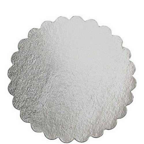 Planche à gâteau ronde argentée, 14 po Image de l'article