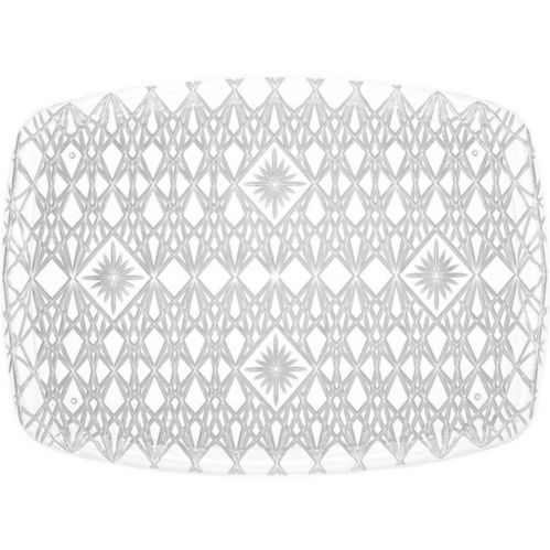 CLEAR Plastic Crystal Cut Rectangular Platter Product image