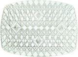 Plateau rectangulaire en plastique transparent de style cristal taillé | Amscannull