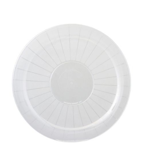 Clear Plastic Frosted Platter Product image