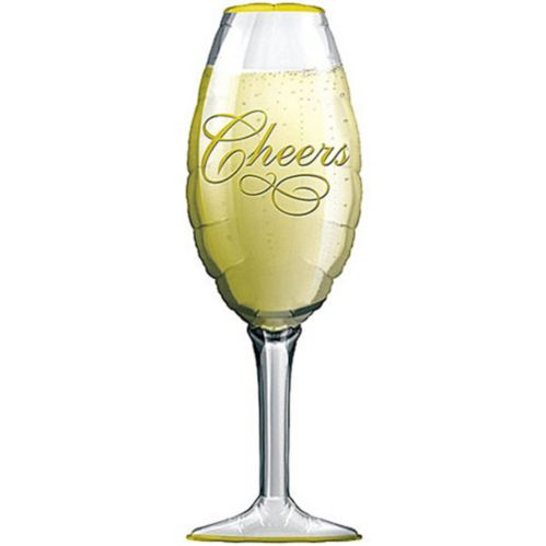 Cheers Champagne Glass Balloon, 38-in Product image