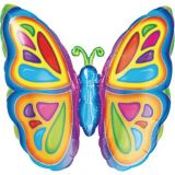 Bright Butterfly Balloon, 25-in
