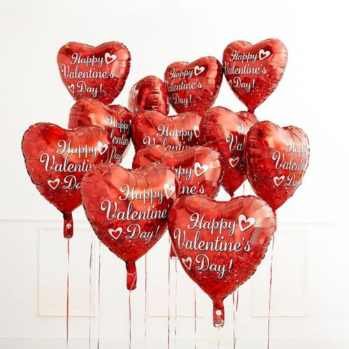 Red Valentine's Day Heart Balloon, 17-in