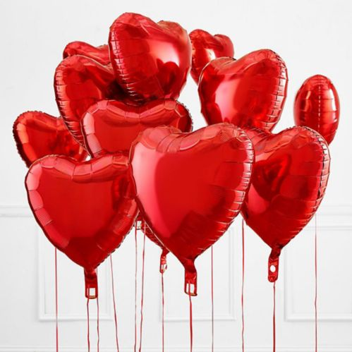 Red Heart Balloon, 17-in