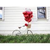 Red Heart Balloon, 17-in | Amscannull