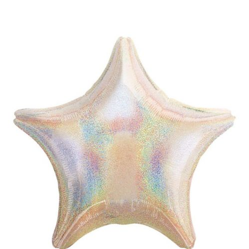 Iridescent Star Balloon, 19-in