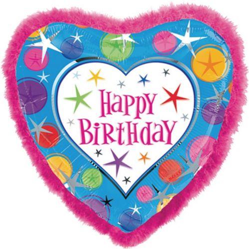 Boa Heart Happy Birthday Balloon