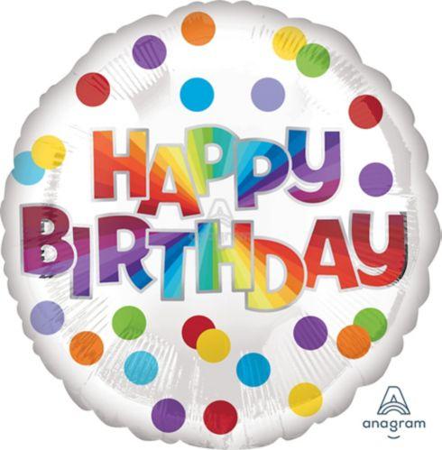 Banderole personnalisée Happy Birthday avec serpentins, 18 po Image de l'article