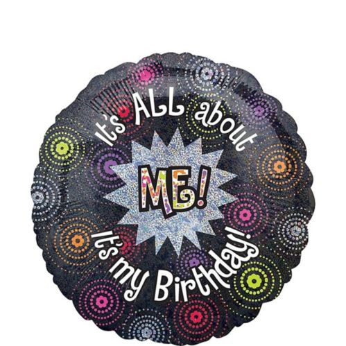 It's All About Me Happy Birthday Balloon, 18-in