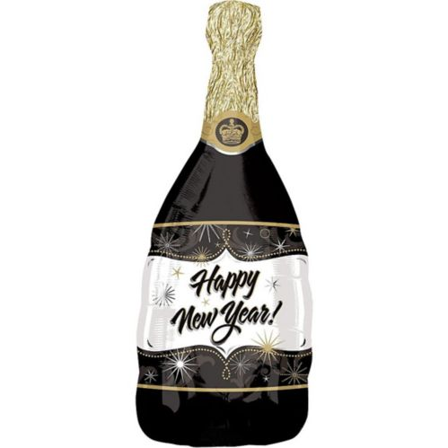 Champagne Happy New Year Balloon, 36-in Product image