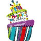 Happy Birthday Cake Balloon, 37-in