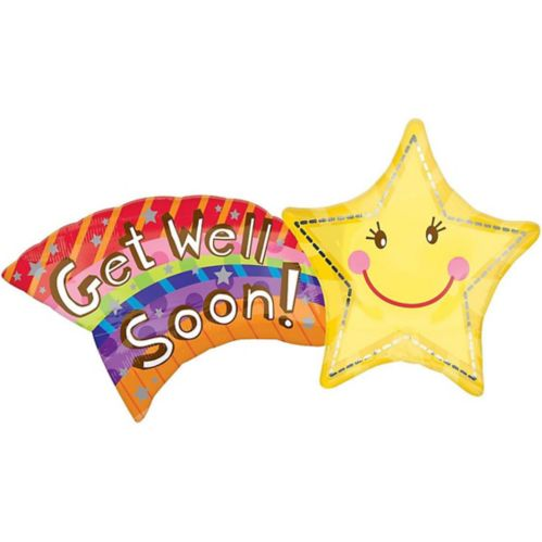 Star Get Well Balloon, 22-in