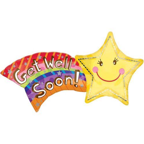 Ballon Get Well Soon en forme d'étoile, 27 po Image de l'article