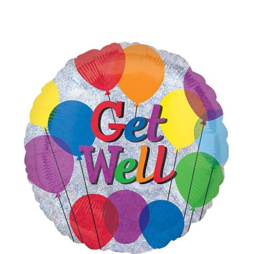 Colourful Get Well Balloon, 17-in