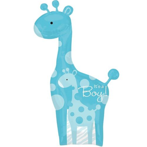 Blue Wild Safari It's a Boy Baby Shower Balloon