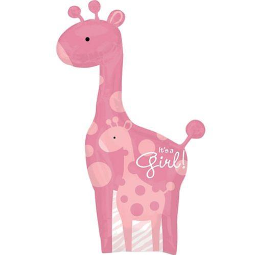 Ballon pour fête prénatale, Safari Rose, fille
