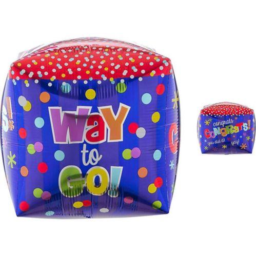 Ballon de félicitations Way to Go Cubez, 15po