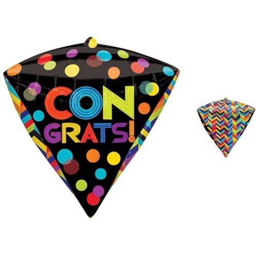 Diamondz Bright Dot Congratulations Balloon, 17-in
