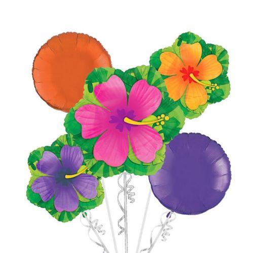 Hibiscus Balloon Bouquet, 5-pk