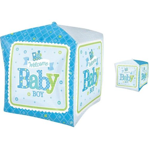 Cubez Welcome Little One Boy Baby Balloon, 15-in