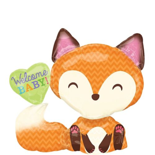 Welcome Baby Balloon, Woodland Fox