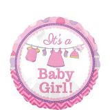 It's A Baby Girl Balloon, 17-in