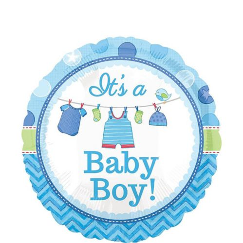 Shower with Love Boy Baby Balloon, 17-in