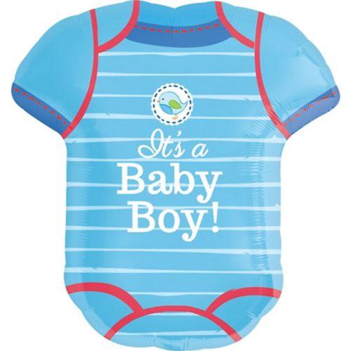 Ballon de fête prénatale maillot Shower With Love, garçon
