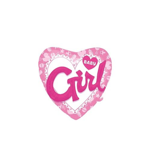 Baby Girl Pink Heart 3D Balloon, 36-in Product image