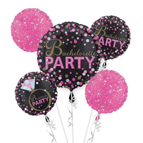 Sassy Bride Bachelorette Party Balloon Bouquet, 5-pc