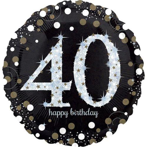 Sparkling Celebration 40th Birthday Balloon, 18-in