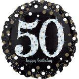 Ballon scintillant pour fête de 50ans, 18po | Amscannull
