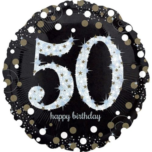 Sparkling Celebration 50th Birthday Balloon, 18-in