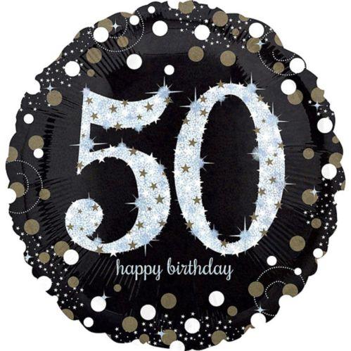 Ballon scintillant pour fête de 50ans, 18po Image de l'article