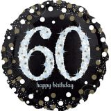 Sparkling Celebration 60th Birthday Balloon, 18-in