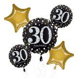 Sparkling Celebration 30th Birthday Balloon Bouquet, 5-pc