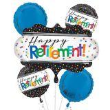Happy Retirement Celebration Balloon Bouquet, 5-pc
