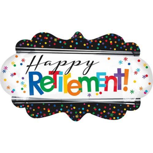 Happy Retirement Celebration Balloon, 27-in x 16-in Product image