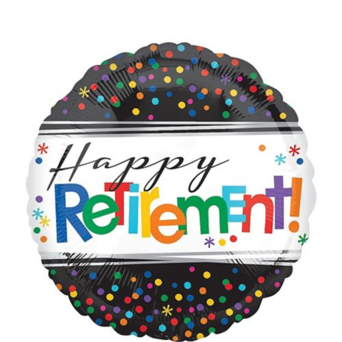 Happy Retirement Celebration Balloon, 17-in