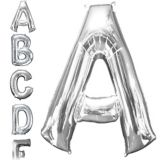 Silver Letter Balloon, 34-in | Amscannull