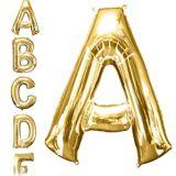 Ballons en forme de lettres, or